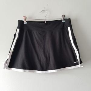 Nike Dri Fit Black White Skort Medium